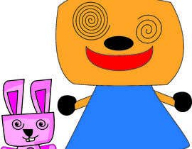 #59 for Create a cartoon character of Robot Girl with pet by rosead