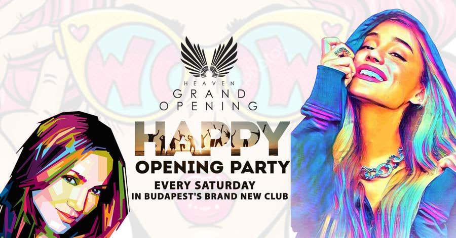 """Kilpailutyö #75 kilpailussa """"Happy"""" party events creative concept - facebook cover"""