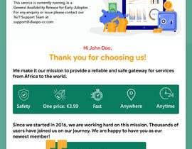 Nro 24 kilpailuun Welcome E-Mail Design - UI/UX Designer käyttäjältä jomidar369