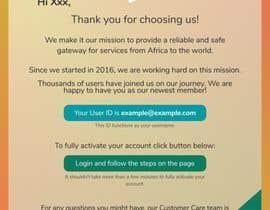 Nro 25 kilpailuun Welcome E-Mail Design - UI/UX Designer käyttäjältä BwBest
