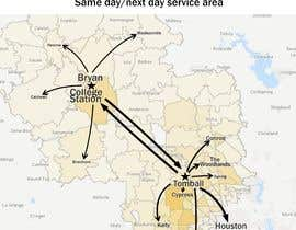 nº 25 pour Need Graphic of Service Area Map par kateip