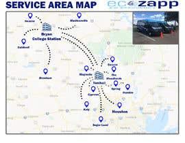 nº 48 pour Need Graphic of Service Area Map par HexamazeTech