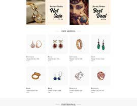 #38 for Website-Design for a OnePage (no coding) for handmade jewelry and other stuff by Nibraz098