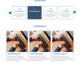 nº 119 pour Website-Design for a OnePage (no coding) for IT-support par polashsm