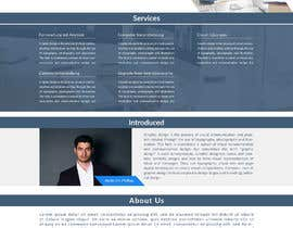nº 65 pour Website-Design for a OnePage (no coding) for IT-support par Zamilhossain1