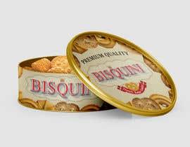 #15 untuk Retro design of Danish Butter cookie in round  tin oleh omsigraphics