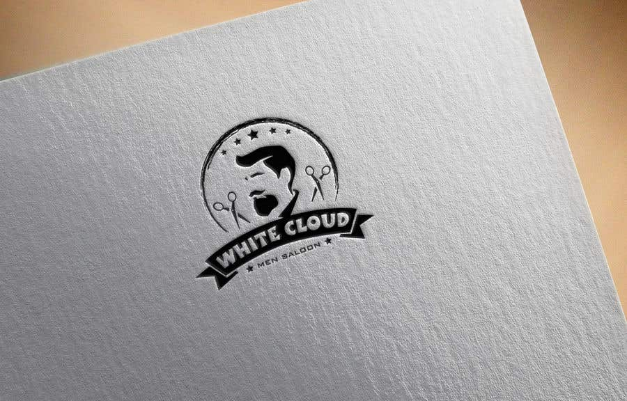 Penyertaan Peraduan #30 untuk This logo is for man saloon and its name is white cloud .. I need creative logo