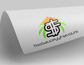 logoque tarafından Logo Design  Title: 2SauceyyFlavours / TooSauceyyFlavours With graphic of Mixed Caribbean Food into logo  - fried chicken & mac n cheese & prawns & waffles etc  - 21/10/2019 13:13 EDT için no 7
