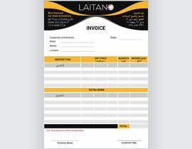 #19 untuk (Arabic Required) (Winner will be Selected in 14 hours) Design Invoice for Laitano (A5 Paper) oleh AhmadGanda