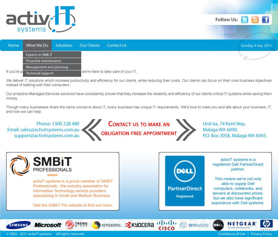 Contest Entry #52 for Website Design for activIT systems