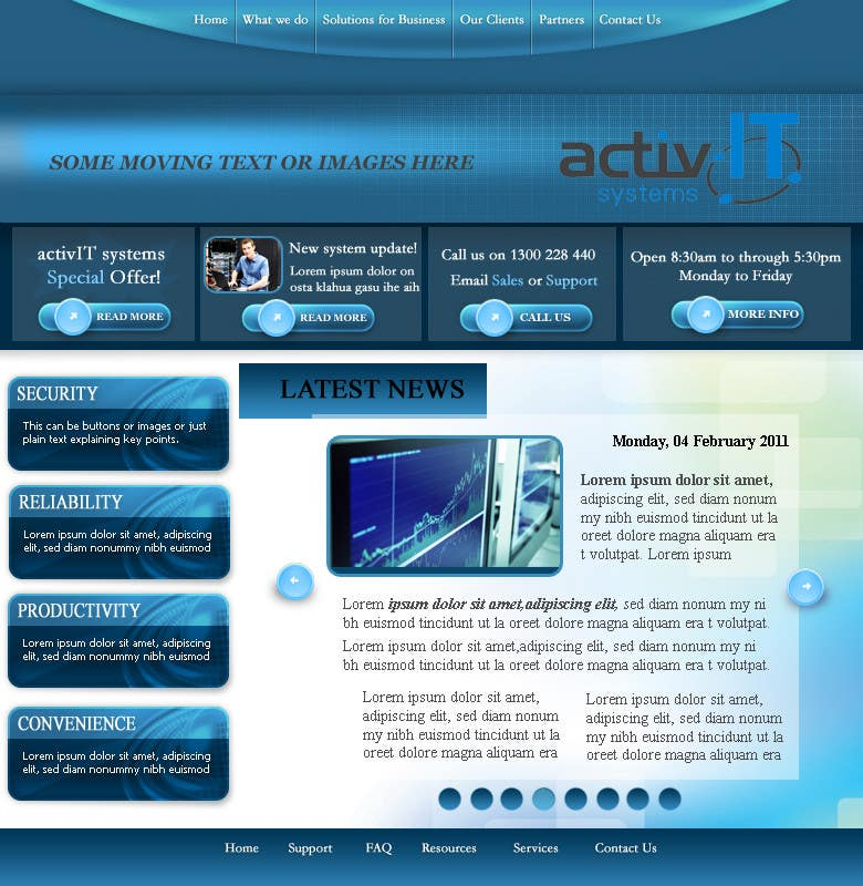 Proposition n°31 du concours Website Design for activIT systems