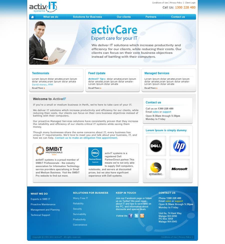 Penyertaan Peraduan #45 untuk Website Design for activIT systems