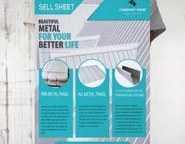 "#58 for Sell Sheet - PBR Metal Panel, Ag Metal Panel & 6"" K-Style Seamless Gutters af hmdyakub9876"