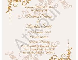 #20 untuk Required e-invite for marriage oleh atikchowdhury55