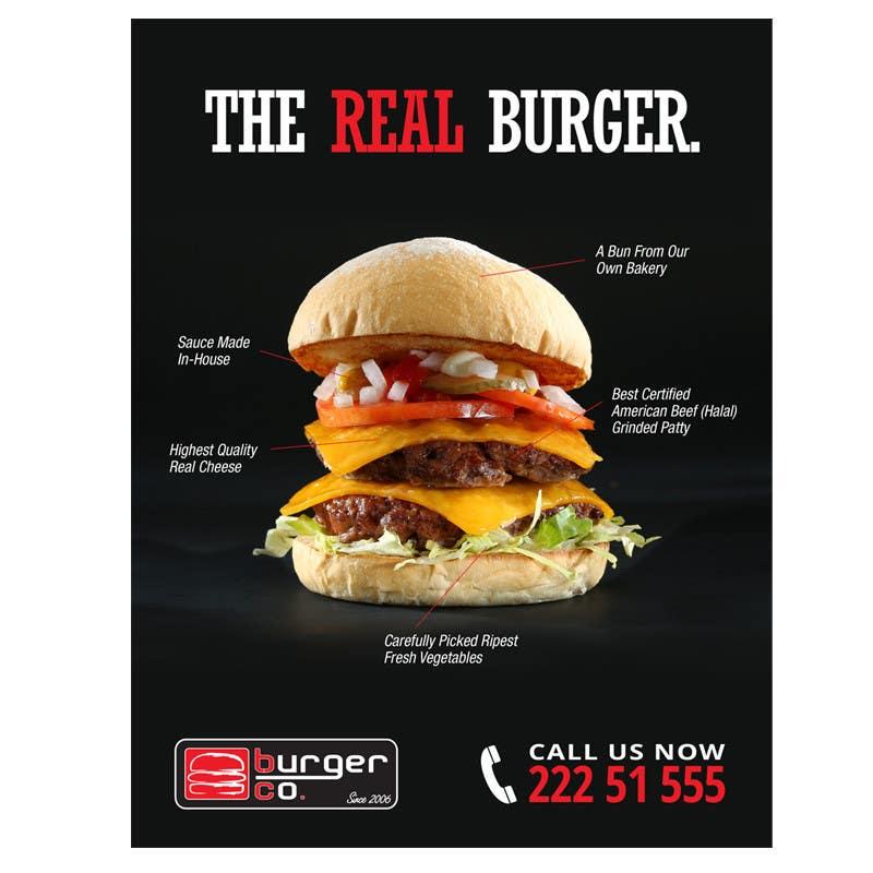 Bài tham dự cuộc thi #                                        3                                      cho                                         Design an Advertisement for a Burger Restaurant