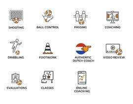 #18 for I need about 40 high quality custom icons for my new soccer website by basilelias