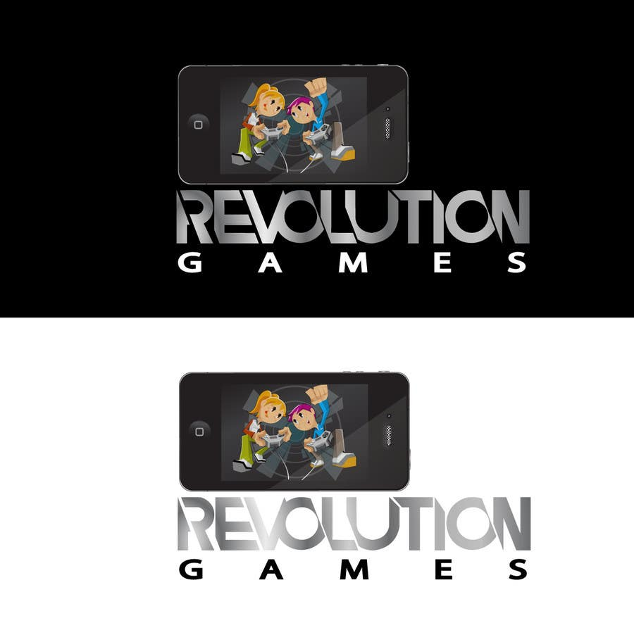 Kilpailutyö #                                        16                                      kilpailussa                                         Logo Design for Revolution Games