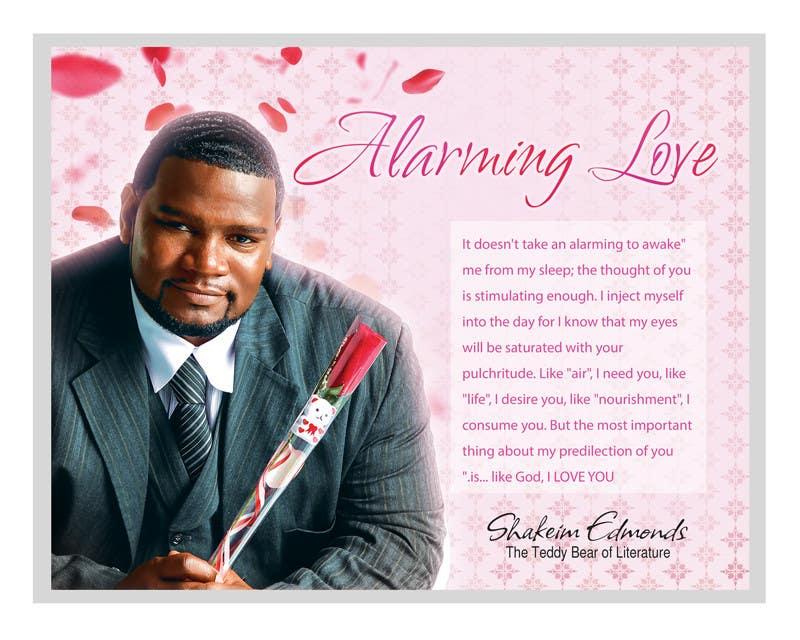 """Inscrição nº                                         4                                      do Concurso para                                         Flyer Design for (Author) Skakeim Edmonds, """"Alarming Love"""""""