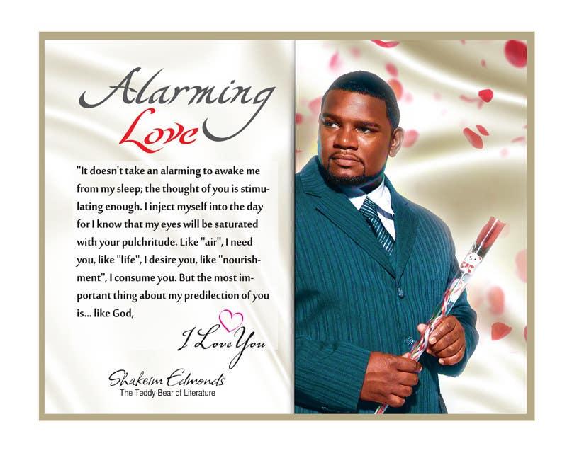 """Inscrição nº                                         5                                      do Concurso para                                         Flyer Design for (Author) Skakeim Edmonds, """"Alarming Love"""""""