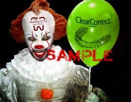 #1 untuk Use my face on Pennywise the clowns using our logo as the mark on our face. With green balloon that has ClearCorrect on it. oleh frozenfeniks