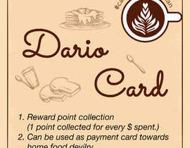 Nro 15 kilpailuun Graphic design with written words for cafeteria reward points card käyttäjältä Veevi14