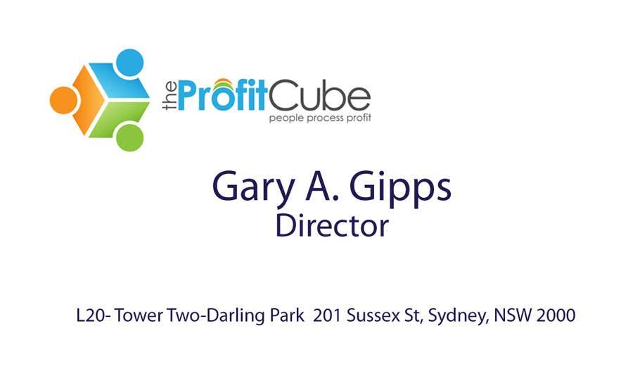 Inscrição nº 1 do Concurso para Business Card and letterhead Design for The Profit Cube