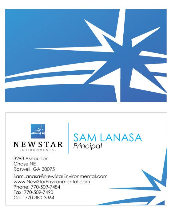 Contest Entry #                                        90                                      for                                         Business Card Design for New Star Environmental