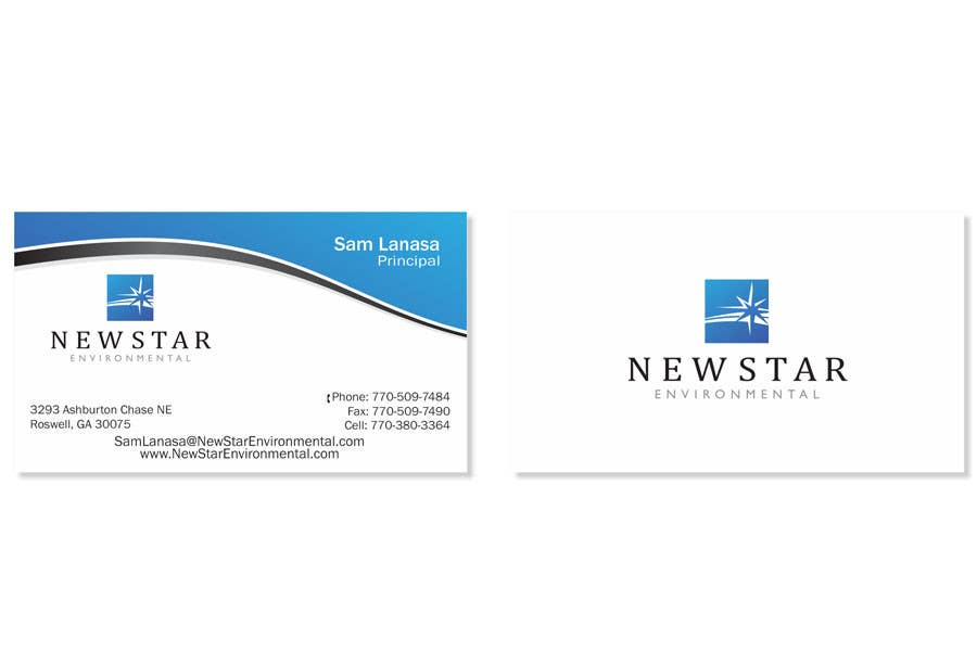 Proposition n°94 du concours Business Card Design for New Star Environmental