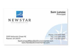 #93 para Business Card Design for New Star Environmental de ulogo