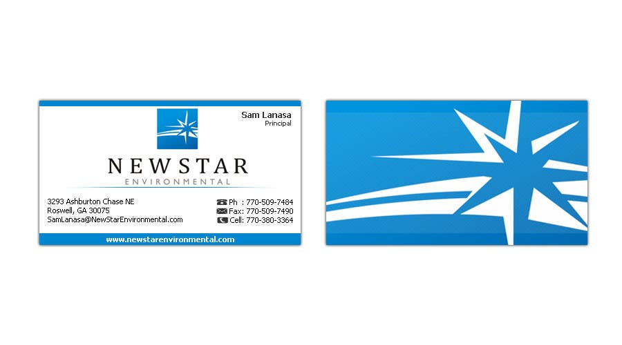 Proposition n°95 du concours Business Card Design for New Star Environmental