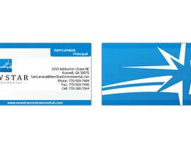 nº 83 pour Business Card Design for New Star Environmental par mattu2011