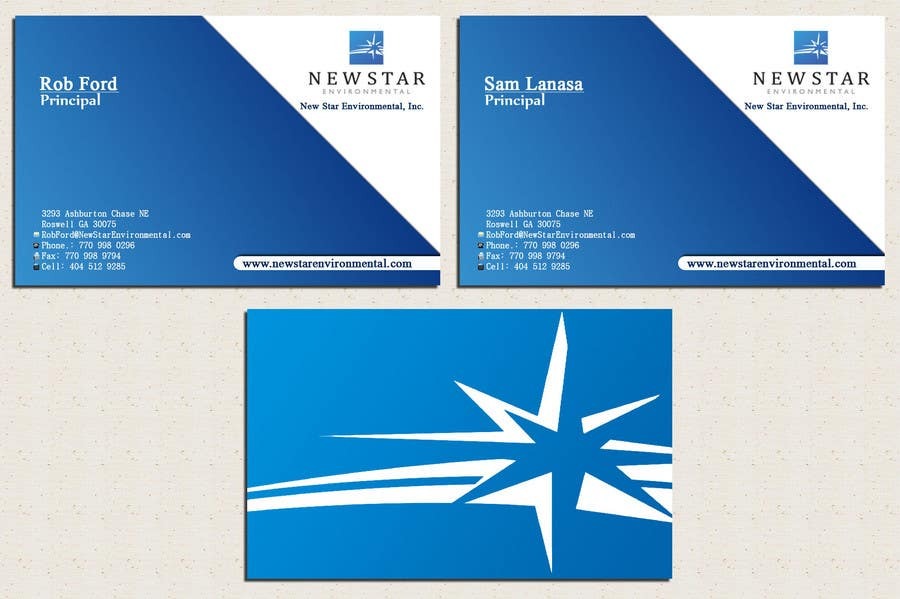 Proposition n°84 du concours Business Card Design for New Star Environmental