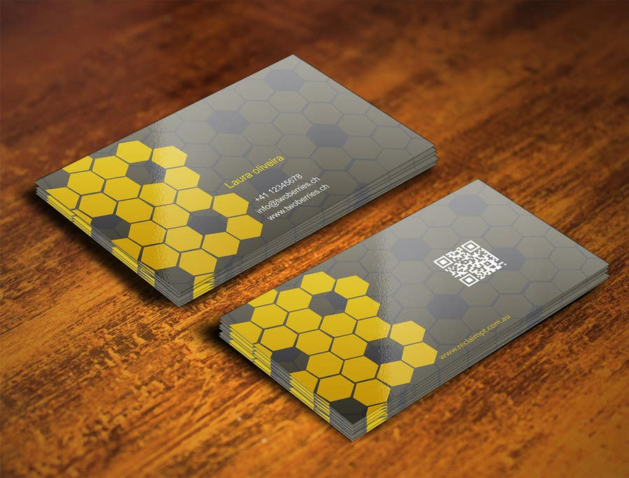 Entry 28 by gohardecent for design some business cards for Bee business cards