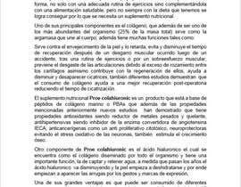 #40 para Artículo de 200 palabras sobre suplemento nutricional de oojedazegarra