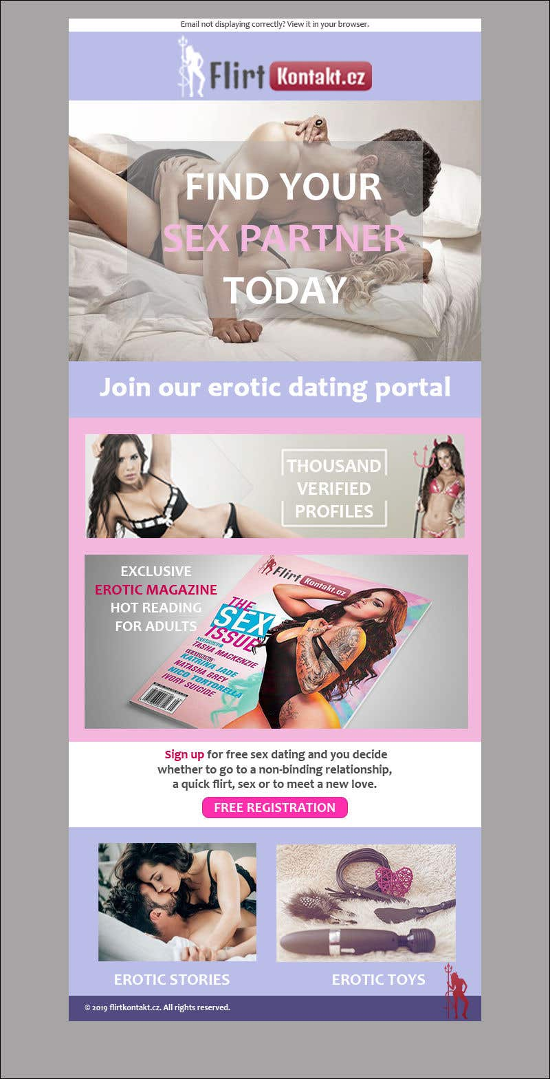 Proposition n°16 du concours 10 mail templates for erotic datig site