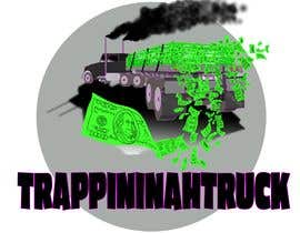 #26 for Trappin' N DaTruck—- description is...Semi truck pulling a flatbed trailer with stacks of money on the back... I want the money to look as if it's flying off the trailer by chriterbear