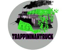 #27 for Trappin' N DaTruck—- description is...Semi truck pulling a flatbed trailer with stacks of money on the back... I want the money to look as if it's flying off the trailer by chriterbear