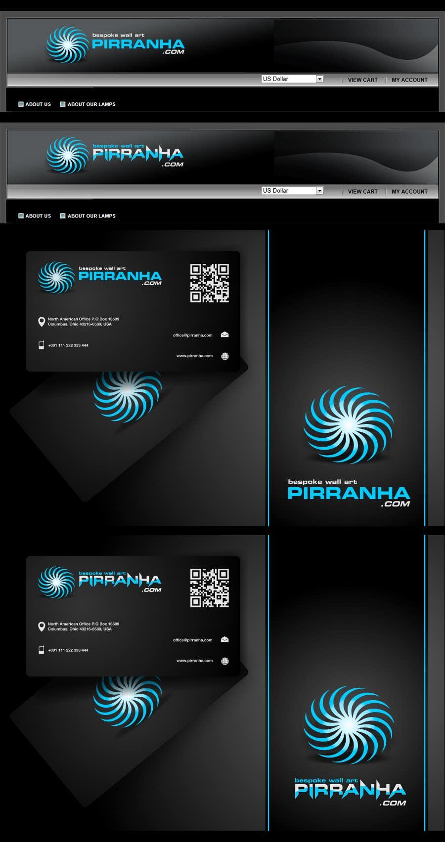 Penyertaan Peraduan #64 untuk Logo Design for Pirranha.com