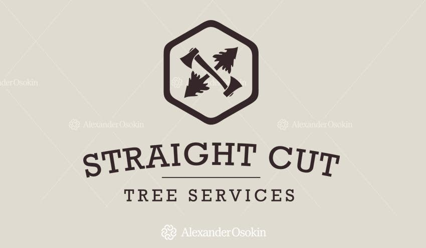 #28 for Logo Design for Straight Cut Tree Service by osokin