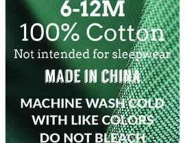 #57 untuk Clothing printed tag oleh takemenet