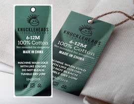 #58 untuk Clothing printed tag oleh takemenet