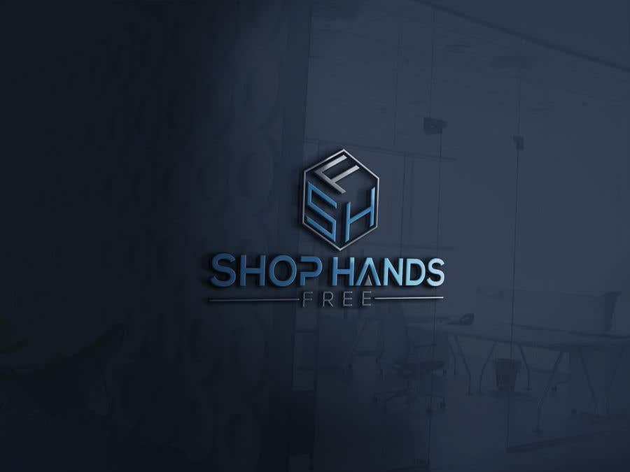 Penyertaan Peraduan #143 untuk Shop Hands Free logo
