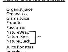 #217 untuk Need a brand name for 100% Organic Juice oleh saiduzzamanbulet
