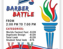 Nro 58 kilpailuun event flyer barber battle käyttäjältä SwiftTech3
