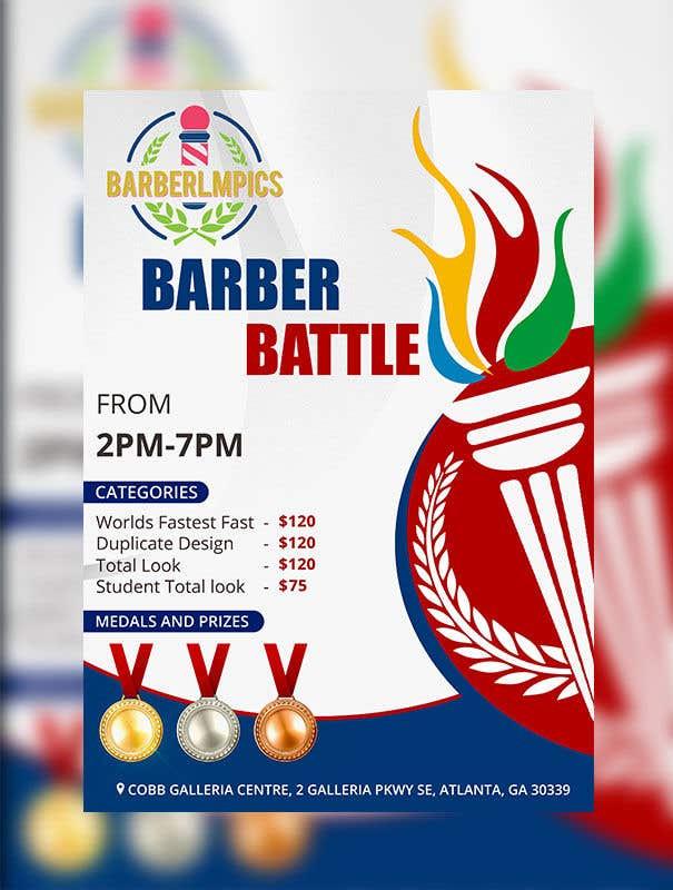 Kilpailutyö #44 kilpailussa event flyer barber battle