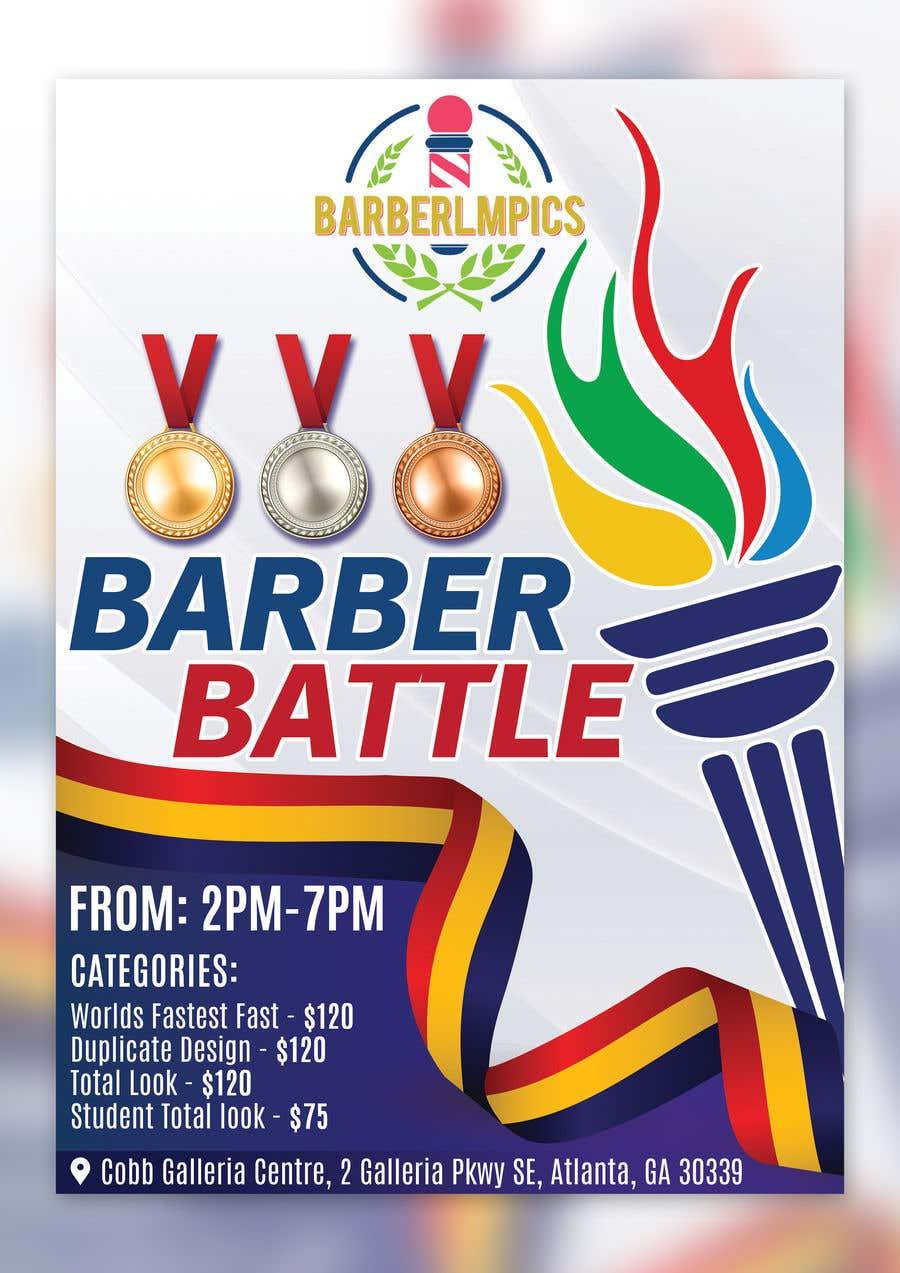 Kilpailutyö #47 kilpailussa event flyer barber battle