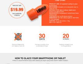 #26 untuk Design a landing page to sell one product: oleophobic touchscreen coating oleh AiAge888