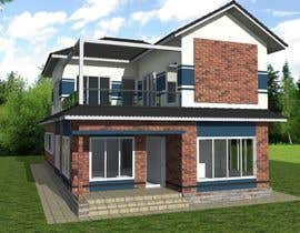#45 для Draw 2D Elevation for a residential building от dennisDW