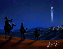 nº 12 pour Illustration of three wise men on camels par jasongcorre