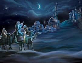 nº 8 pour Illustration of three wise men on camels par dhruvil4793